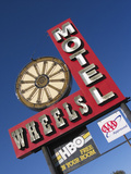 Wheels Motel Sign  Greybull  Wyoming  USA