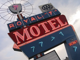 Royal 7 Motel Sign  Bozeman  Montana  USA