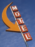 Detail of Plain Motel Sign  Cle Elum  Washington  USA