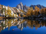Prusik Peak and Temple Ridge  Reflected in Sprite Lake  Enchantment Lakes