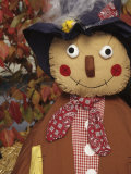 Stuffed Scarecrow on Display at Halloween  Washington  USA
