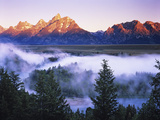 The Grand Tetons from the Snake River Overlook at Dawn  Grand Teton National Park  Wyoming  USA