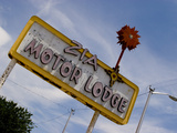 Zia Motor Lodge Sign  New Mexico  USA