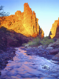 Stream Near Fisher Towers  Utah  USA