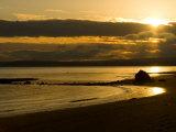 Double Bluff Beach at Sunset  Useless Bay  Whidbey Island  Washington  USA