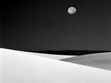 Nighttime with Full Moon Over the Desert  White Sands National Monument  New Mexico  USA