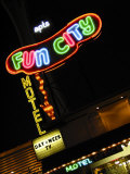 Fun City Motel Sign  Las Vegas  Nevada  USA