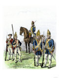 British and Hessian Soldiers in the American Revolution