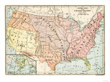 Map of Territorial Growth of the United States from 1783-1867