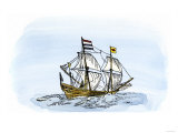 One of Henry Hudson's Ships  17th Century
