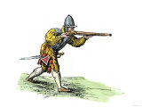Spanish Soldier Aiming an Arquebus in the New World  16th Century
