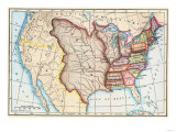 Map of the US in 1803  Showing the Louisiana Purchase