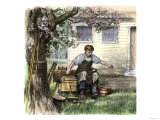 Old-Time Shoemaker Working Outdoors