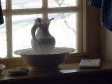Pitcher and Basin in General Washington's Bedroom at Valley Forge Winter Camp  Pennsylvania