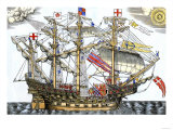 Ark Royal  the Flagship Which Led the English Fleet against the Spanish Armada  c1588