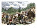 Prospectors Working the Gregory Gold Diggings in the Colorado Rockies  May 1859