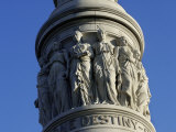 Detail of Victory Monument at Yorktown Battlefield  Virginia