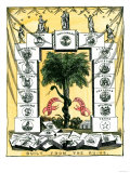 Banner of the Secession Convention in Charleston  South Carolina  c1860