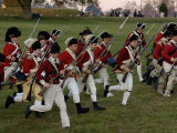 British Sortie Reenactment at Yorktown Battlefield  Virginia