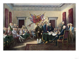 Signing the Declaration of Independence  July 4  1776
