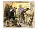 Gunsmiths Forging Muskets for the Minutemen Before the American Revolution  c1770