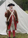 American Soldier at a Reenactment on the Yorktown Battlefield  Virginia