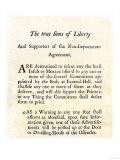 Sons of Liberty Handbill Supporting Boycott of British Goods in Boston Before the Revolutionary War