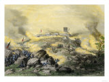 American Assault on the Fortress of Chapultepec  US-Mexican War  c1847