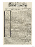 The Massachusetts Spy Newspaper  on the First Anniversary of the Boston Massacre  c1771