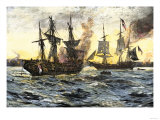 John Paul Jones in Command of the Ranger in Battle with the British Ship Drake