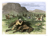 General Custer's Scout Surrounded by Hostile Arapahoes in the Black Hills  Dakota Territory  c1874