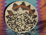 Posole - Pueblo Indian Dried Corn - in a Native American Basket