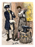 Blacksmith Angry at Being Served a Tax Demand  a Scene in Shays's Rebellion  c1786