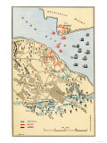 Map of Battle of Yorktown where the British Army Was Defeated by the American and French  c1781