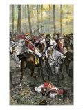 Combat during the Battle of Cowpens  c1781