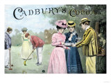 Advertisement for Cadbury's Cocoa  Showing a Croquet Game  c1899