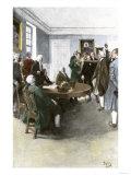 Samuel Adams Demanding British Army Withdrawal after the Boston Massacre  c1770
