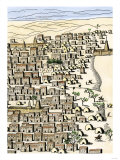 Timbuktu in Africa  as Drawn by Rene-Auguste Caillie  the First European Visitor  c1828