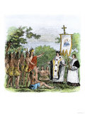 Spanish Missionary Father Garzes Instructing Native Americans