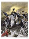 General Washington Leading the Americans at the Battle of Princeton  New Jersey  c1777