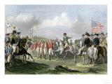 Surrender of the British Army under Lord Cornwallis at Yorktown  c1781