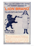 Ad for Lion Brand Shirts  Collars  and Cuffs for Men  c1901