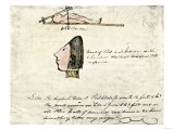William Clark's Sketch of Flathead Indians in His Diary  c1804-1806