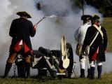 Artillery Demonstration  Revolutionary War Reenactment at Yorktown Battlefield  Virginia