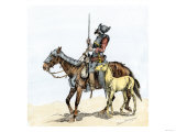 Spanish Conquistador on a Horse with Foal - the Origin of the Horse in Colonial America