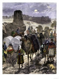 Trade Caravans on the Silk Road  the Great Highway of Central Asia
