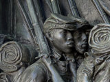 Black Soldiers of the 54th Massachusetts Regiment  Memorial in Boston  Massachusetts