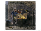 Blacksmith and His Assistant at a Forge