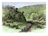 General James Longstreet's March through Thoroughfare Gap at the Second Battle of Bull Run  c1862