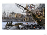 Boston Tea Party  a Protest against British Taxes Before the American Revolution  c1773